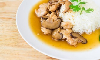 Zesty Chicken & Mushroom Over Rice