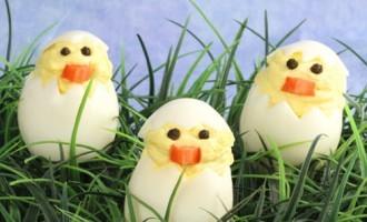 Hard Core Deviled Chick Eggs