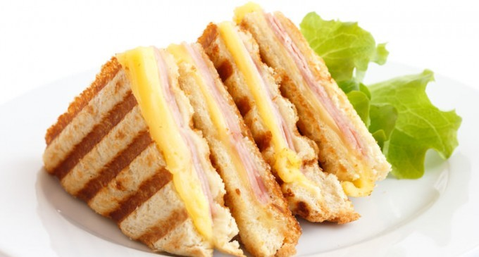 Toasted Ham and Cheese Sandwich