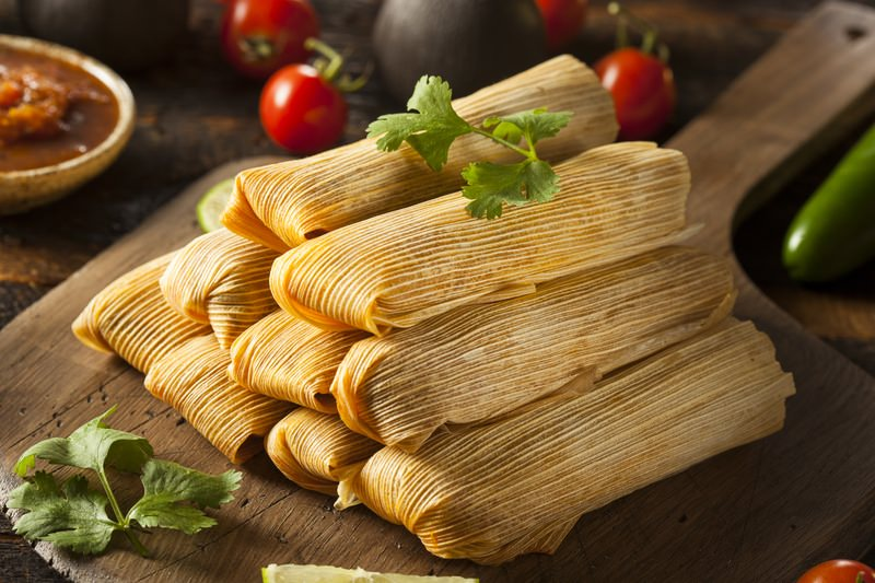Three steps for making tamales recipe station for Ancient mayan cuisine