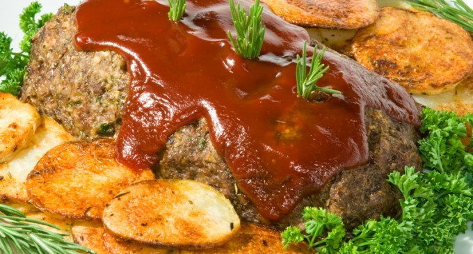 Slow Cooked Meatloaf & Potatoes