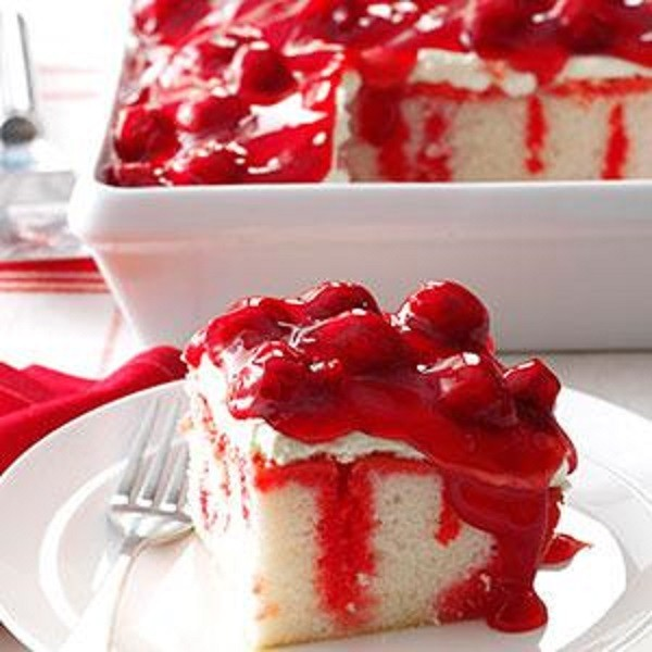 Strawberry Jello Poke Cake Cream Cheese