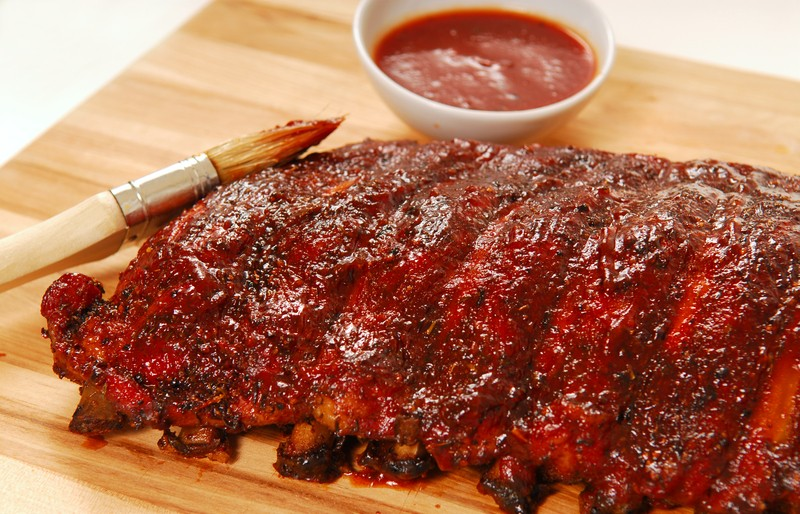 Beer Brazed Pork Spare Ribs Glazed With A Sweet Honey Barbecue Sauce ...