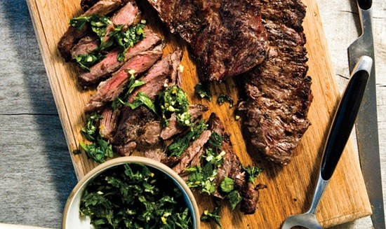 Serve This Tender Skirt Steak With A Festive Salsa Verde ...