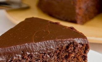 Southern-Styled Coffee Chocolate Cake With A Rich Chocolate Ganache Frosting