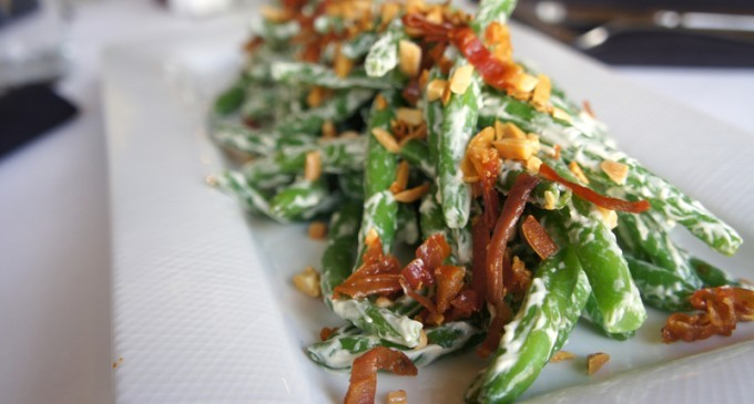 This Is The Best Green Bean Casserole You'll Ever Have! No Condensed Mushroom Soup &Lots Of Bacon!