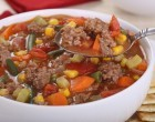 Craving A Hamburger But Hate All The Calories & Don't Want Fast-Food? Make This Savory Hearty Soup Instead