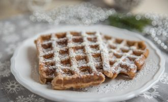 These Gingerbread Waffles are Sure to Make Everyone's Breakfast Festive and Delicious!