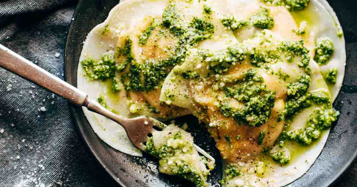 This Jumbo Butternut Squash Ravioli with Kale Pesto Just Might Be The ...