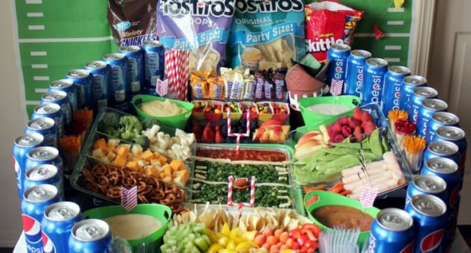 These Snack Stadiums Are Delicious And Just Right For Any Super Bowl Party!