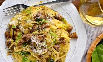 This Super Easy Sausage And Parmesan Pasta Is Ready In Twenty Minutes And Tastes Amazing