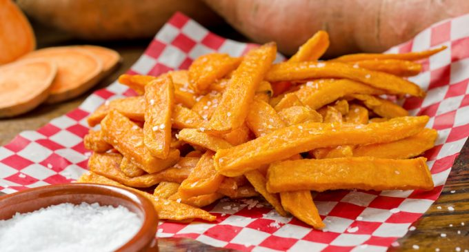 These Sweet Potato Fries Are Crispy And Delicious And They Make For One Amazing Side!