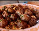 Salisbury Steak Meatballs with Garlic Butter Noodles