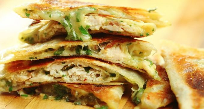 The Best Spicy Chicken Quesadilla Ever