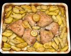 This Lemon Chicken and Potatoes Recipe is a Traditional Greek Favorite
