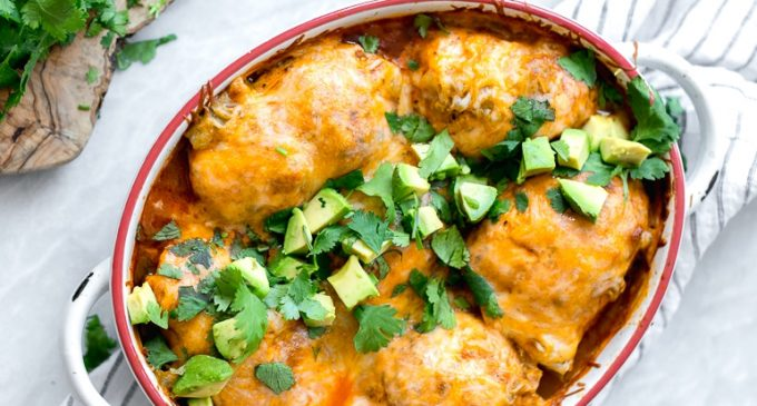 These Chicken Enchilada Roll-Ups Are Spicy and Delicious