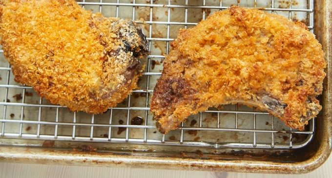 Cheesy Breaded Pork Chops