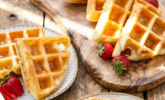 Delicious Donut Waffles With a Sweet Glaze