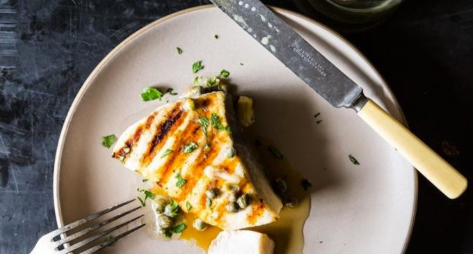 Swordfish is Back on the Menu…Celebrate With This Grilled Swordfish and Lemon-Caper Sauce!