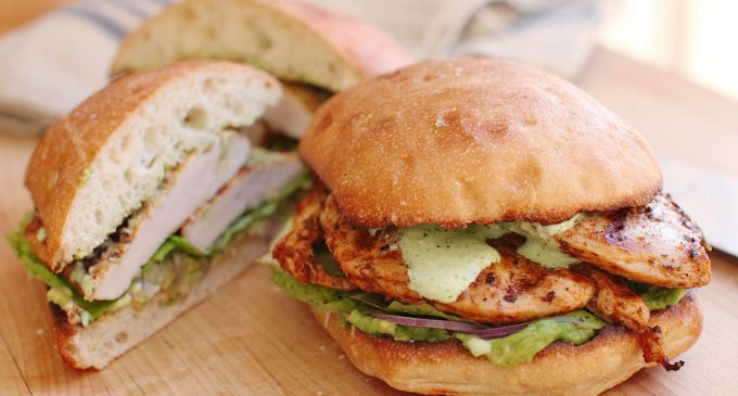 This Grilled Peruvian Chicken Sandwich Is Our Favorite Lunch!