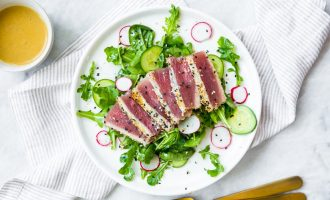 Seared Tuna Topped With Wasabi Butter Sauce is Our Favorite Thing This Week