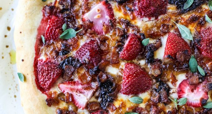 We Were A Little Skeptical About Trying Strawberry Pizza…But We Were Pleasantly Surprised!