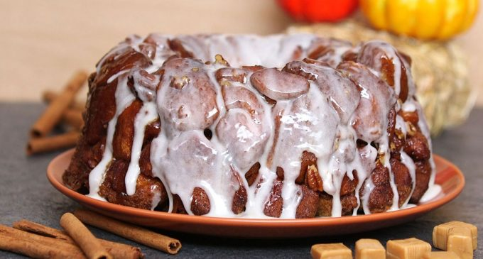 This Pumpkin Cinnamon Roll Monkey Bread Will Be The Star of The Show