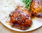 The Best Honey Garlic Chicken Thighs Straight From The Slow Cooker