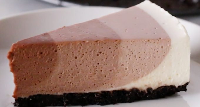 This Chocolate Ripple Cheesecake Is Every Chocolate Lovers Dream