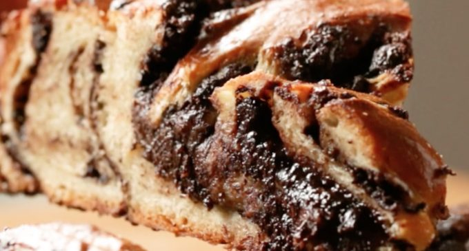 The Simplicity Of This Braided Chocolate Bread Is Surprising