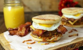 Double Bacon, Hash Browns And A Fried Egg, A Breakfast Burger That Wins At Life