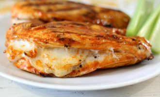 Mozzarella Stuffed Buffalo Chicken That Will Make Every Mouth Water!
